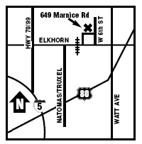 map to Elkhorn Rv